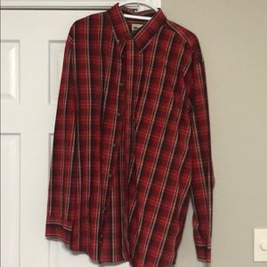 Wrangler Red and Black Button down